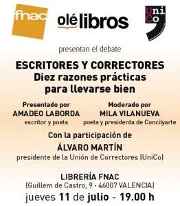 FNAC_Correctores en Valencia_cartel